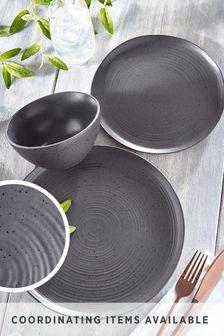 Charcoal Kya Reactive Glaze 12 Piece Dinner Set