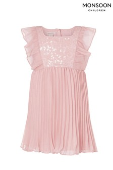 Monsoon粉色亮片裝飾連衣裙