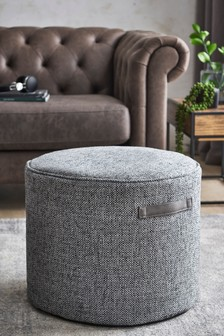 Chunky Weave Pouffe With Handles