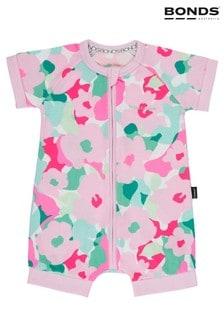 Bonds Pink Be You Camo Zip Wondersuit Romper