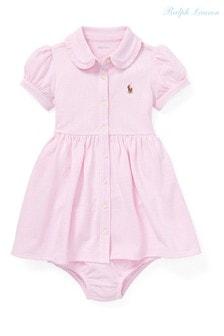 Розовое платье в полоску Ralph Lauren