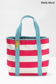 White Stuff Red Hayley Reversible Beach Tote Bag