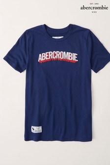 Abercrombie & Fitch Blue Dye Logo T-Shirt