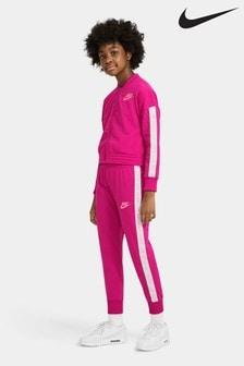 Розовый трикотажный спортивный костюм Nike