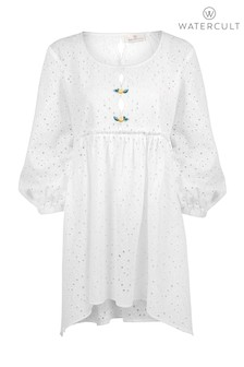 Watercult White Broderie Anglaise Smock Dress