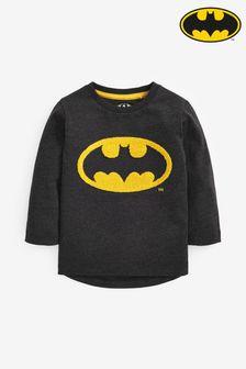 Maglietta a maniche lunghe in jersey con logo Batman® (3 mesi - 8 anni)