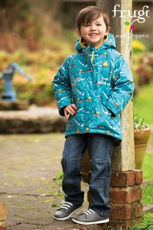 Frugi GOTS Blue Denim And Check Organic Cosy Lined Jeans
