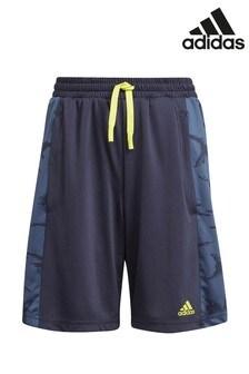 adidas Performance Shorts mit Camouflage-Muster, marineblau