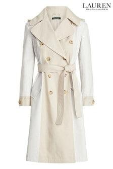 Lauren Ralph Lauren® Cream Stone Panel Trench Coat
