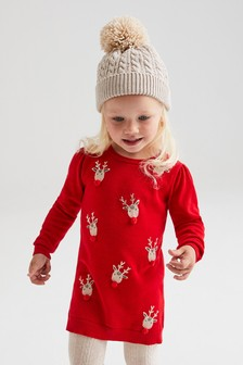 Christmas Reindeer Dress (12mths-7yrs)
