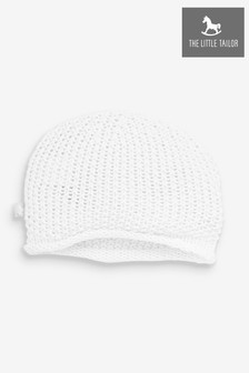 The Little Tailor White Baby Knitted Hat
