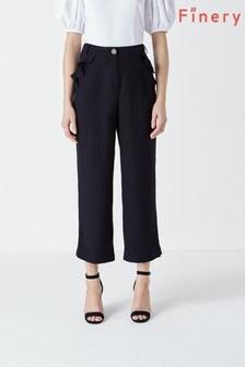 מכנסיים עם כיסים ומלמלה של Finery דגם Kellen בנייבי