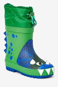 Dinosaur Thinsulate™ Cuff Wellies (Younger)