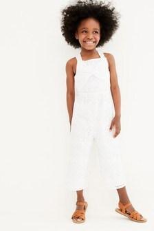 Комбинезон с вышивкой ришелье и перекрученным дизайном (3-16 лет)