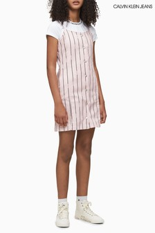 Calvin Klein Pink Striped Strappy Summer Dress