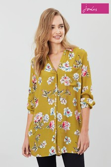 Joules Hailey Bluse mit Blumenmuster, Gold