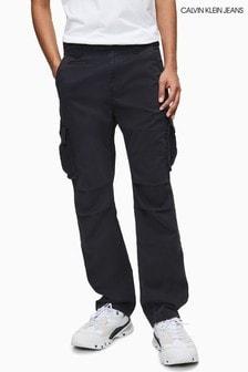 Calvin Klein Jeans Black Regular Cargo Pants