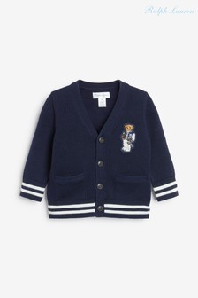 Ralph Lauren Navy Bear Cardigan
