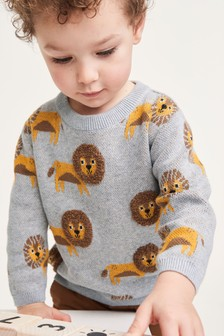 Lion Character Jumper (3mths-7yrs)