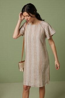 Short Sleeve Linen Dress