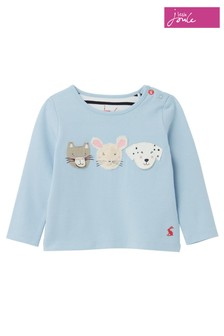 Joules Blue Chomp Animal Appliqué Top