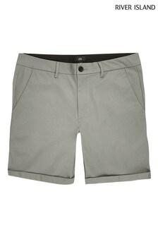River Island leichte Vienna Skinny Fit Shorts, Grün