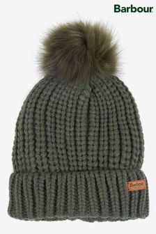 כובע גרב סריגריב של®Barbour עם פונפון דמוי פרווה