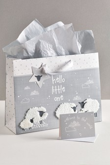 Unisex Sheep Card and Gift Bag