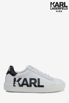 Karl Lagerfeld White Side Logo Trainers