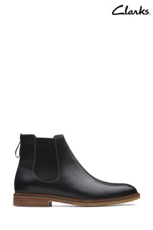 Clarks Black Leather Clarkdale Gobi Boots