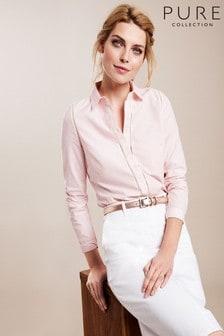Chemise Pure Collection en coton rose