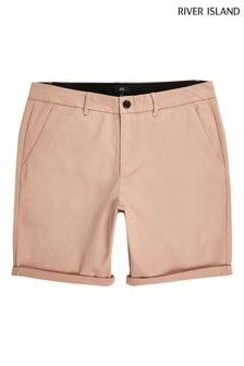 River Island leichte Vienna Skinny Fit Shorts, Pink