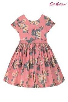 Sukienka Cath Kidston® Pink Mayfield Blossom Charlotte z dekoltem w szpic z tyłu