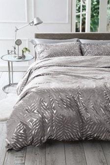 絨布金屬光燦燙金被套和枕頭套套裝