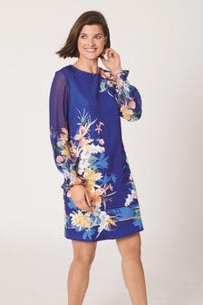 Платье с принтом Border