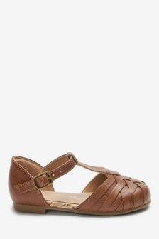 Woven T-Bar Shoes