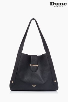 Dune London Black Dixen Slouchy Shoulder Bag