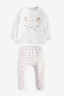 סט חולצת טי וטייץ עם דמויות (0 חודשים עד גיל 2)