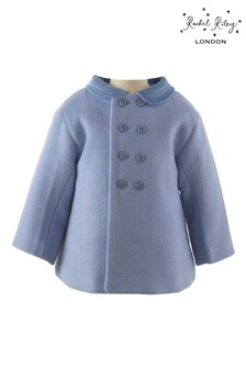 Rachel Riley Blue Velvet Coat