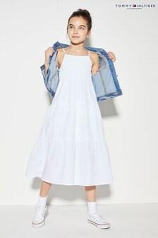 Tommy Hilfiger White Summer Maxi Dress