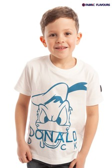 Fabric Flavours White Disney™ Donald Duck Face T-Shirt