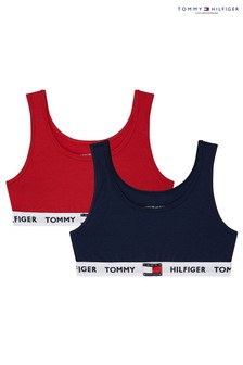 Tommy Hilfiger Red Tommy 85 Bralette Two Pack