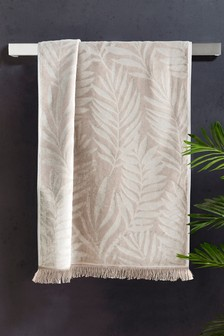 Velour Palm Leaf Towel
