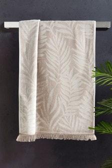 Velours-Handtuch mit Palmenmuster
