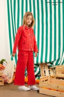 מכנסי ג'ינס של Sonia Rykiel Paris באדום