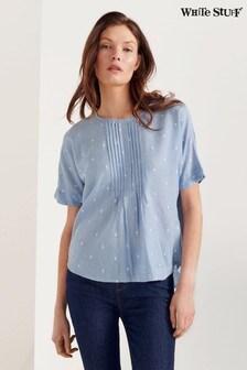 חולצה עם תפזורת נקודות שלWhiteStuff בכחול