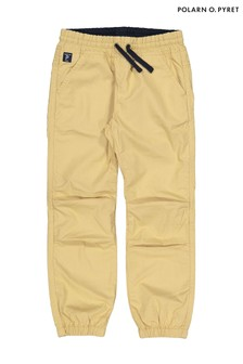 Polarn O. Pyret Natural Organic Cotton Cuffed Trousers