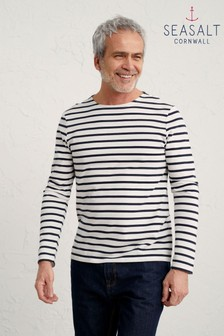 Seasalt Cornwall White Breton Chalk Inkwell Sailor Shirt