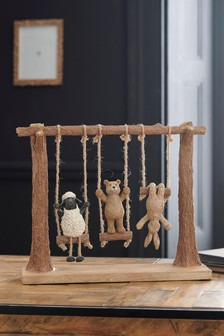Brown Bertie And Friends Swing Ornament