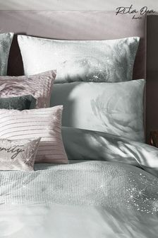 Set of 2 Rita Ora Grey Florentina Mist Pillowcases